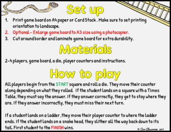 5 Times Tables Snakes and Ladders Game