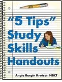 """5 Tips"" Study Skills Handouts"