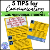 5 Tips When Communicating with Nonverbal Students