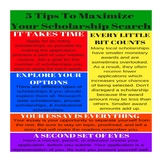 5 Tips to Maximize Your Scholarship Search Poster