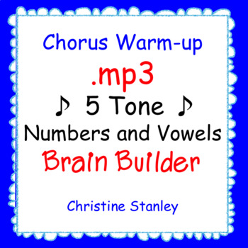 5 Tone Chorus Warm-up with Numbers & Vowels ♫ .mp3 Sing-a-long Accompaniment