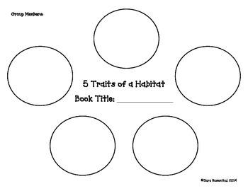 5 Traits of a Habitat Graphic Organizer