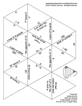 5 Triangle Puzzles for Middle School Math Number Systems Common Core