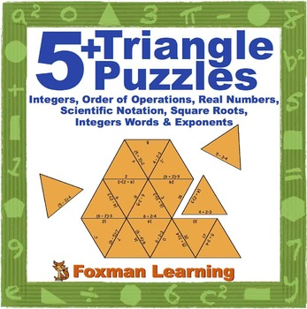 5 Triangle Puzzles for Middle School Math Number Systems C