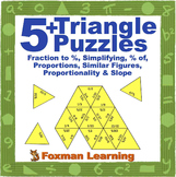 5 Triangle Puzzles for Middle School Math Ratios & Proportional Relationships