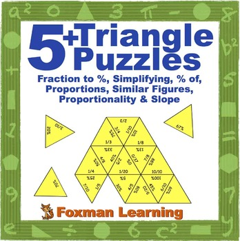 5 Triangle Puzzles For Middle School Math Ratios Proportional Relationships