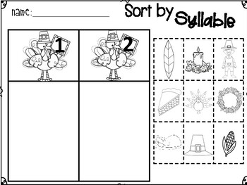 5 Thanksgiving Turkey printables/worksheets for literacy and math