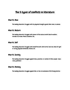 5 Types of Conflict in Literature