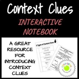 5 Types of Context Clues Interactive Notes