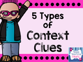 5 Types of Context Clues Posters