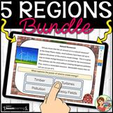 5 U.S. Regions Digital Boom Cards BUNDLE