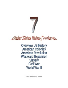 7 US History Timelines: American Colonies, American Revolution, Civil War