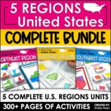 5 Regions of the United States Interactive Notebook Bundle | US Regions