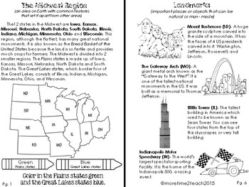 5 US Regions Bundle {Southwest, Southeast, Northeast, Midwest, & West Region}
