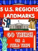 5 US Regions Virtual Field Trip - Bundle