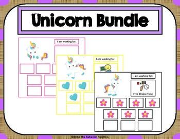 5 Unicorn Token Board Bundle - 10 Token