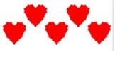 5 Valentine Graphs using Geometric Transformations