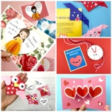 5 Valentine's Day Crafts - 2 Pop Up Cards, 2 Origami/ Book