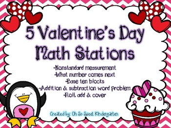 5 Valentine's Day Math Stations