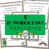 5 St. Patrick's Day Poems for Kids - Bundle