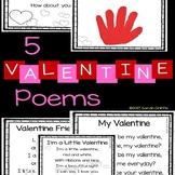 5 Valentines Day Poems for Kids - Bundle