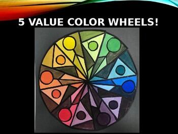 5-Value Color Wheel Painting Project