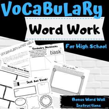 5 Vocabulary Activities for High School Students