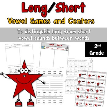 Long and Short Vowel Sound Games and Centers
