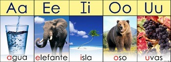 5 Vocales/5 Vowels Spanish Poster