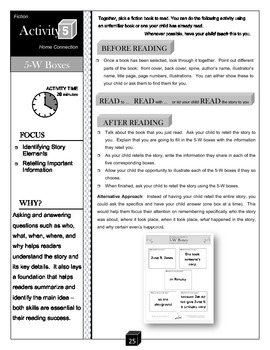 5-W Boxes – Story Elements Activity