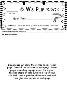 5 W's Flip Book