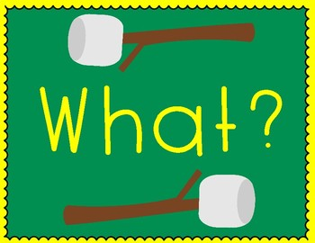 5 W's & H Prompting Questions Posters- Camping Theme