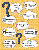 5 W's Question Word Poster- Comprehensible Input (Spanish/