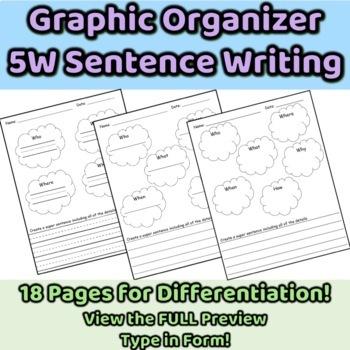 5 WH Graphic Organizer ENL/ESL/SWD