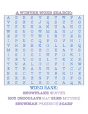 5 WORD SEARCHES: Chirstmas, Winter, Kwanza, Hanukkah, Multicultural Holidays