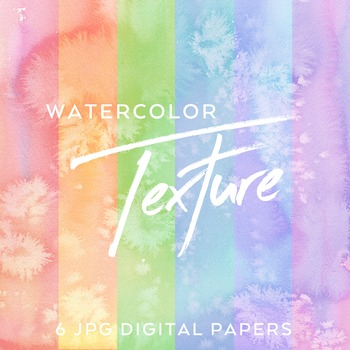 5 Watercolor Pastel Salty digital backgrounds