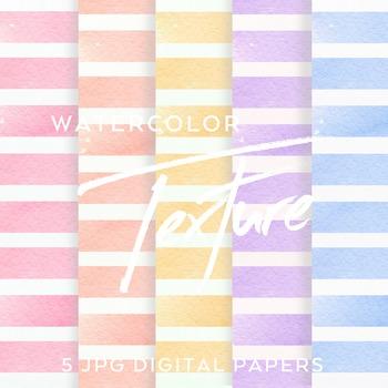 5 Watercolor Stripe digital backgrounds