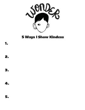 5 Ways I Show Kindness through WONDER by RJ Palacios