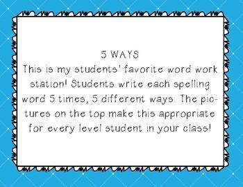 5 Ways Word Work