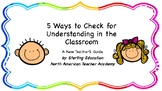 5 Ways to Check for Understanding in the Classroom