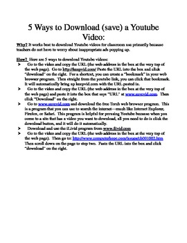5 Ways to Download (Save) a Youtube Video