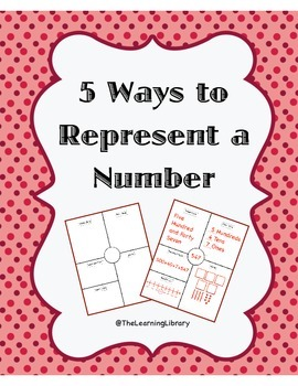5 Ways to Represent a Number Interactive Notebook