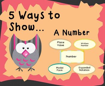5 Ways to Show (Place Value)