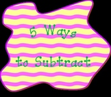 5 Ways to Subtract - Common Core Math Take-Home Project, Grades 1 & 2