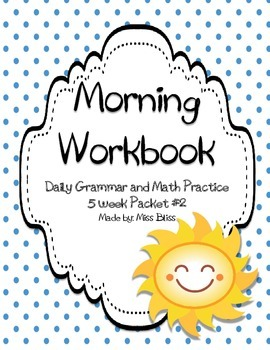 #4 Daily Math and Grammar Practice  (5 week packet)