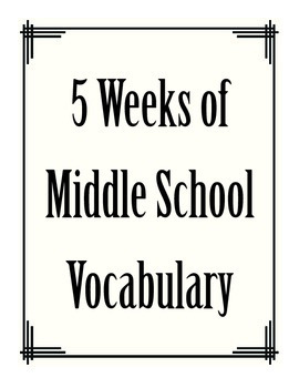 5 Weeks of Essential Vocabulary