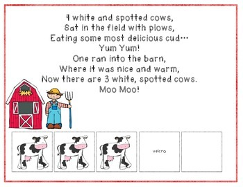 5 White and Spotted Cows Adapted Song Book
