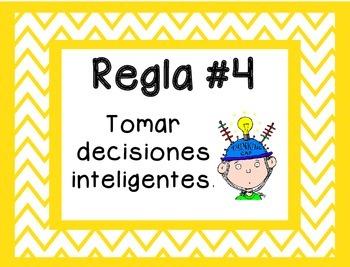 5 Whole Brain Rules - Chevron Theme {SPANISH}