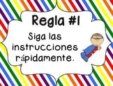 5 Whole Brain Rules -Rainbow Stripes {SPANISH}