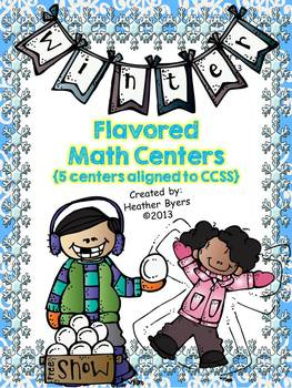 5 Winter Flavored Math Centers {aligned to CCSS}